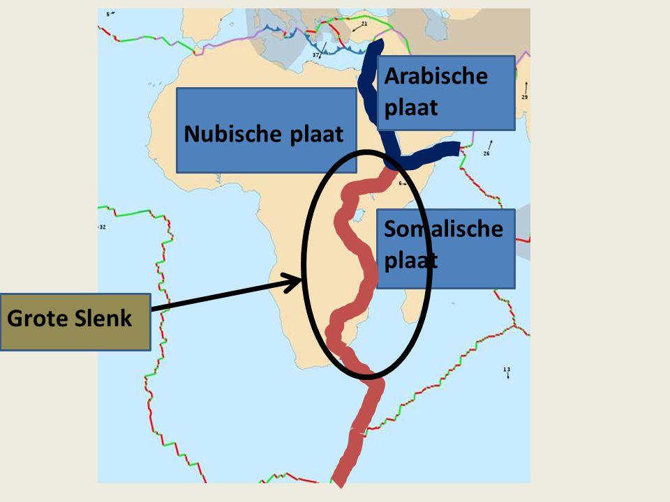 Nubische plaat Somalische plaat Arabische plaat Grote Slenk