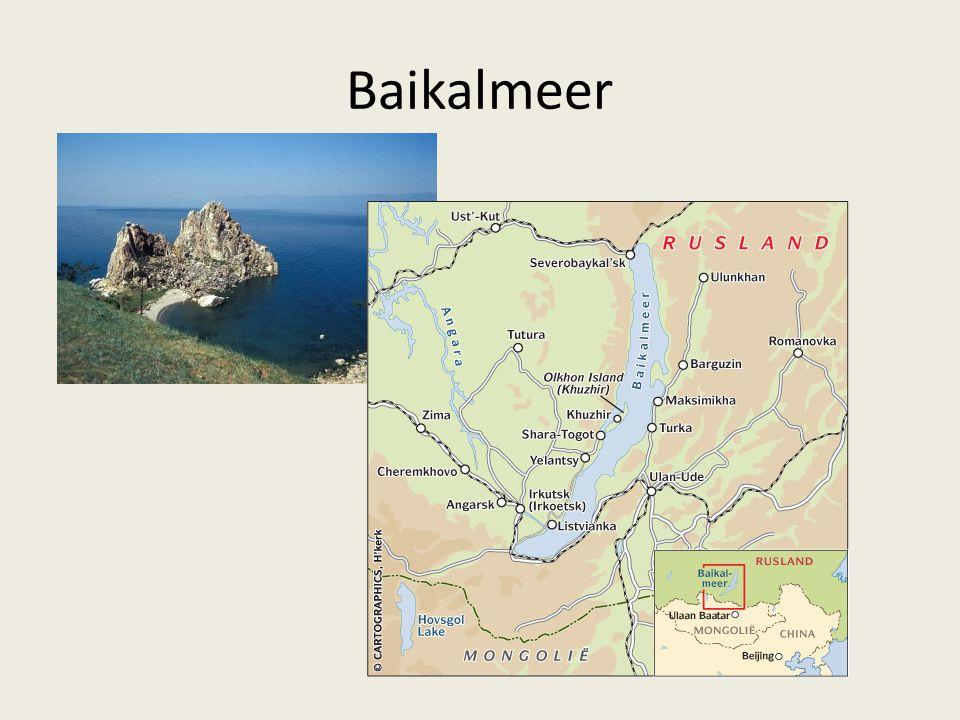 1.Divergerende platen binnen een continent Voorbeeld: Baikalmeer (Siberië: kaart p.