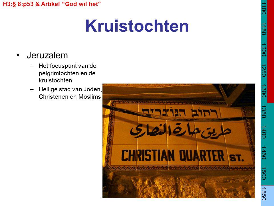 """Kruistochten Jeruzalem –Het focuspunt van de pelgrimtochten en de kruistochten –Heilige stad van Joden, Christenen en Moslims H3:§ 8:p53 & Artikel """"Go"""