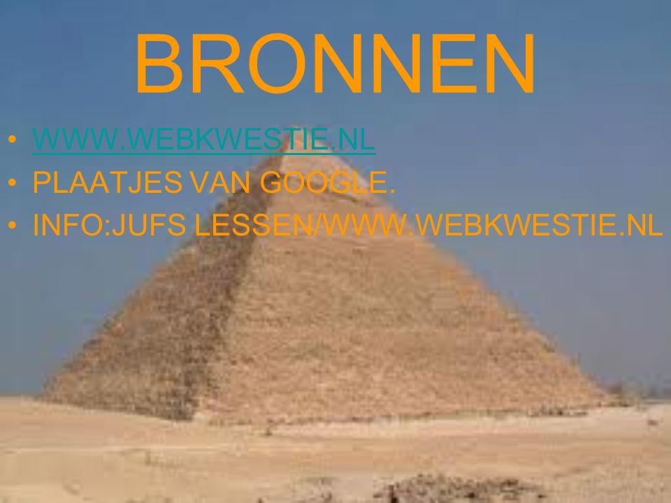 BRONNEN WWW.WEBKWESTIE.NL PLAATJES VAN GOOGLE. INFO:JUFS LESSEN/WWW.WEBKWESTIE.NL