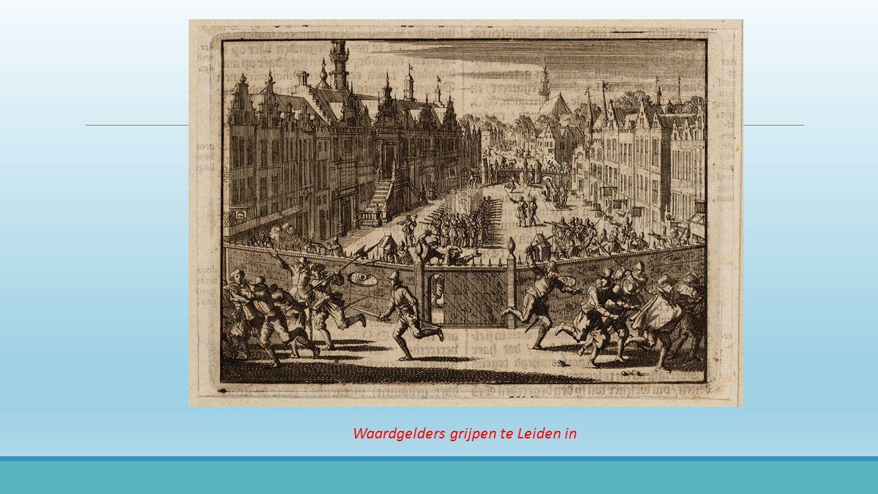 Waardgelders grijpen te Leiden in