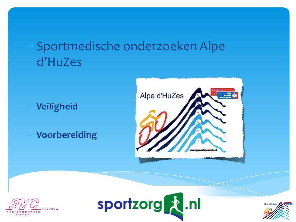  Sportmedische onderzoeken Alpe d'HuZes  Veiligheid  Voorbereiding