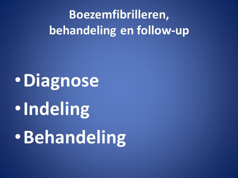 Boezemfibrilleren, behandeling en follow-up Diagnose Indeling Behandeling