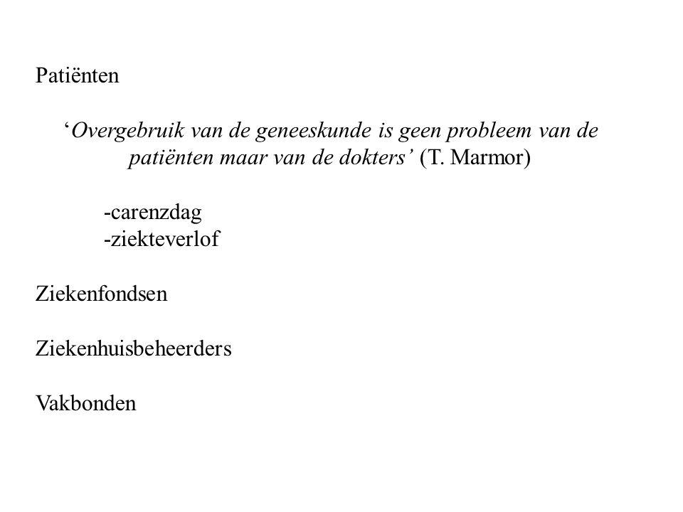 Patiënten 'Overgebruik van de geneeskunde is geen probleem van de patiënten maar van de dokters' (T.