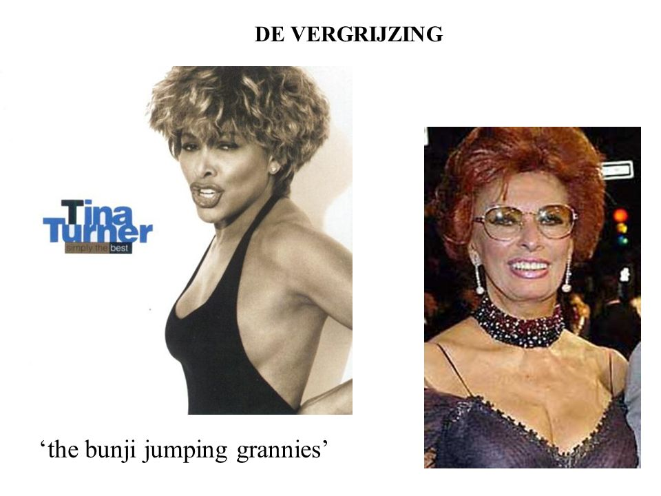 DE VERGRIJZING 'the bunji jumping grannies'