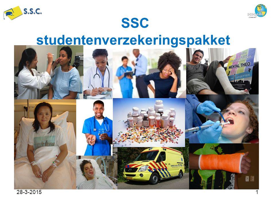 SSC studentenverzekeringspakket 28-3-20151