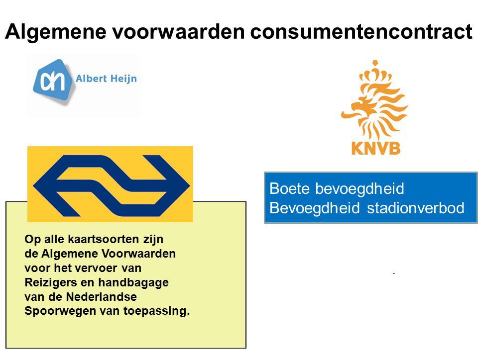 Algemene voorwaarden consumentencontract. Op alle kaartsoorten zijn de Algemene Voorwaarden voor het vervoer van Reizigers en handbagage van de Nederl