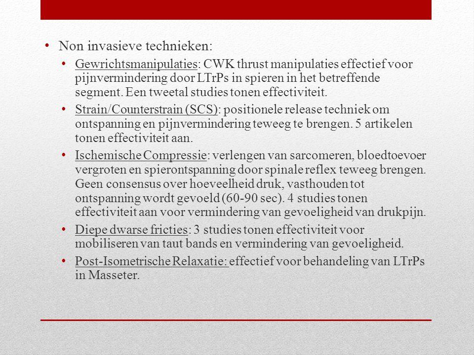 Non invasieve technieken: Gewrichtsmanipulaties: CWK thrust manipulaties effectief voor pijnvermindering door LTrPs in spieren in het betreffende segm