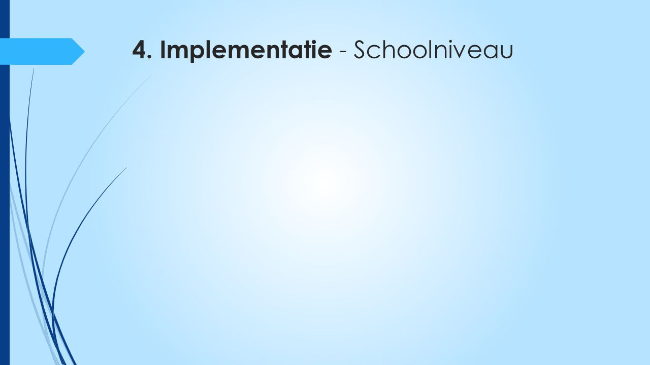 4. Implementatie - Schoolniveau