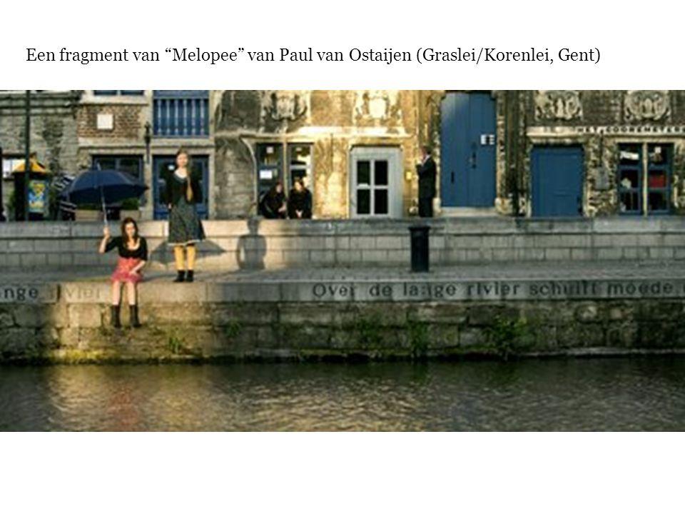 """Een fragment van """"Melopee"""" van Paul van Ostaijen (Graslei/Korenlei, Gent)"""
