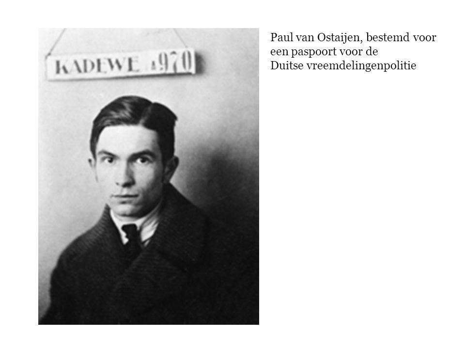 Paul van Ostaijen, bestemd voor een paspoort voor de Duitse vreemdelingenpolitie