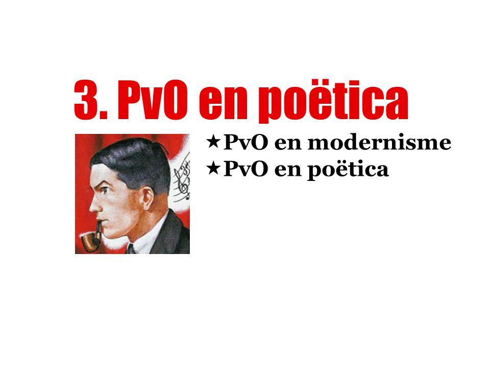 3. PvO en poëtica  PvO en modernisme  PvO en poëtica