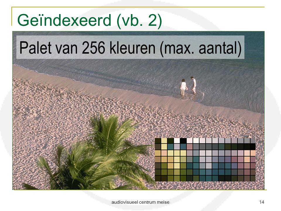 audiovisueel centrum meise 14 Geïndexeerd (vb. 2) Palet van 256 kleuren (max. aantal)