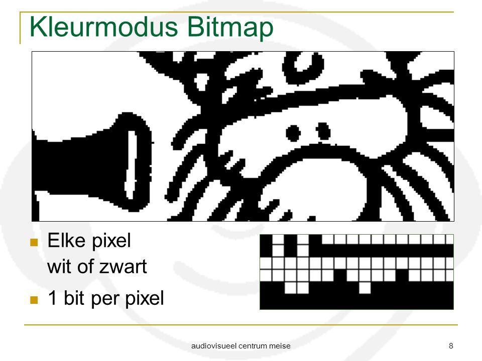 audiovisueel centrum meise 8 Kleurmodus Bitmap Elke pixel wit of zwart 1 bit per pixel