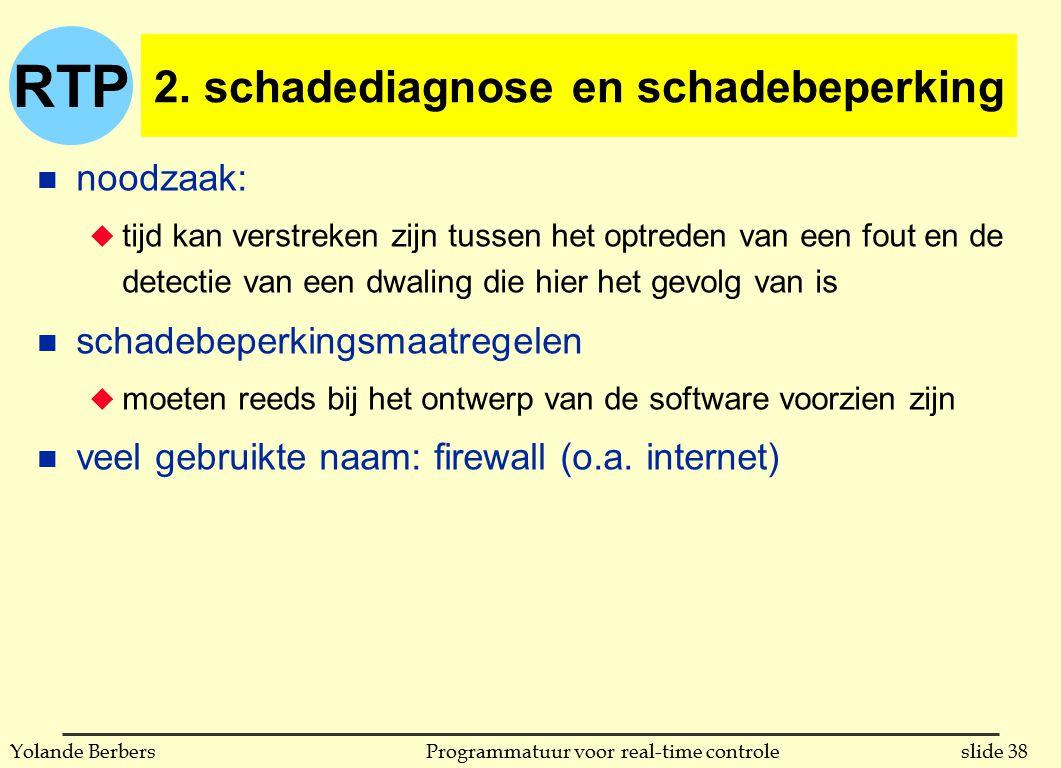 RTP slide 38Programmatuur voor real-time controleYolande Berbers 2.