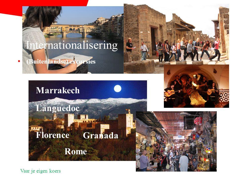 Vaar je eigen koers (Buitenlandse) excursies Rome Marrakech Granada Florence Internationalisering Languedoc