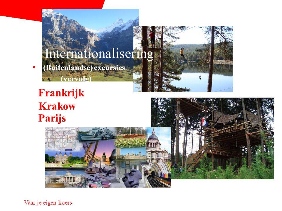 Vaar je eigen koers Krakow Frankrijk Parijs Internationalisering (Buitenlandse) excursies (vervolg)