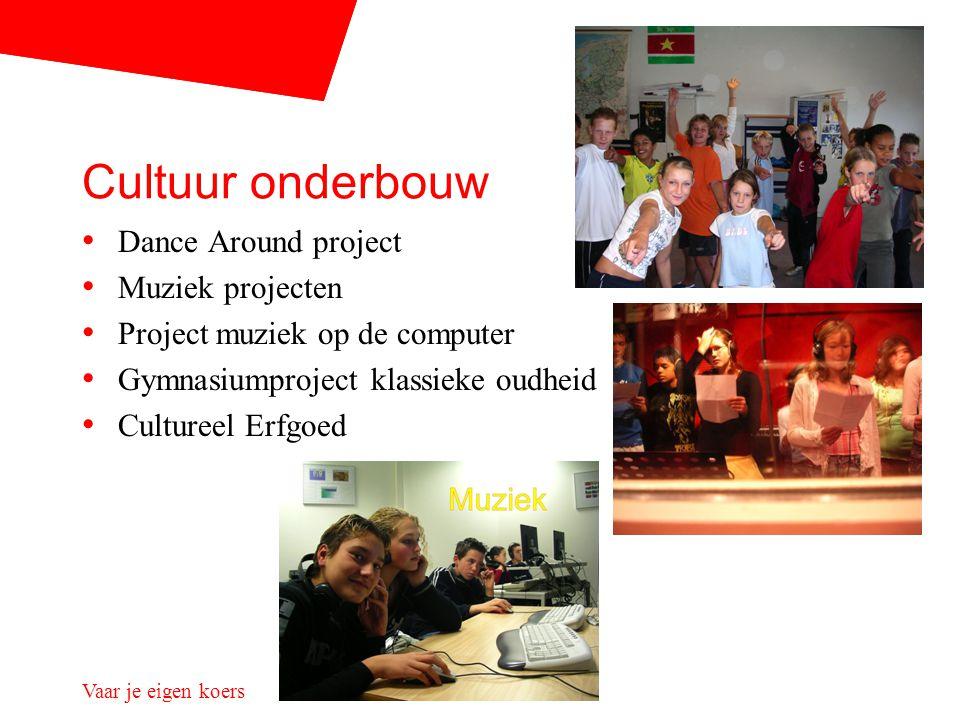 Vaar je eigen koers Cultuur onderbouw Dance Around project Muziek projecten Project muziek op de computer Gymnasiumproject klassieke oudheid Cultureel