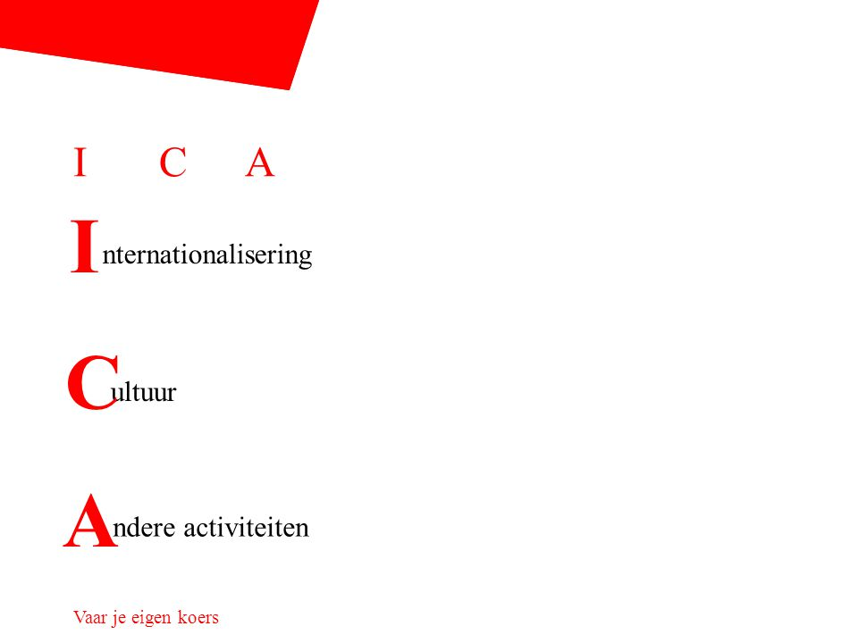 ICAICA nternationalisering ultuur ndere activiteiten I C A
