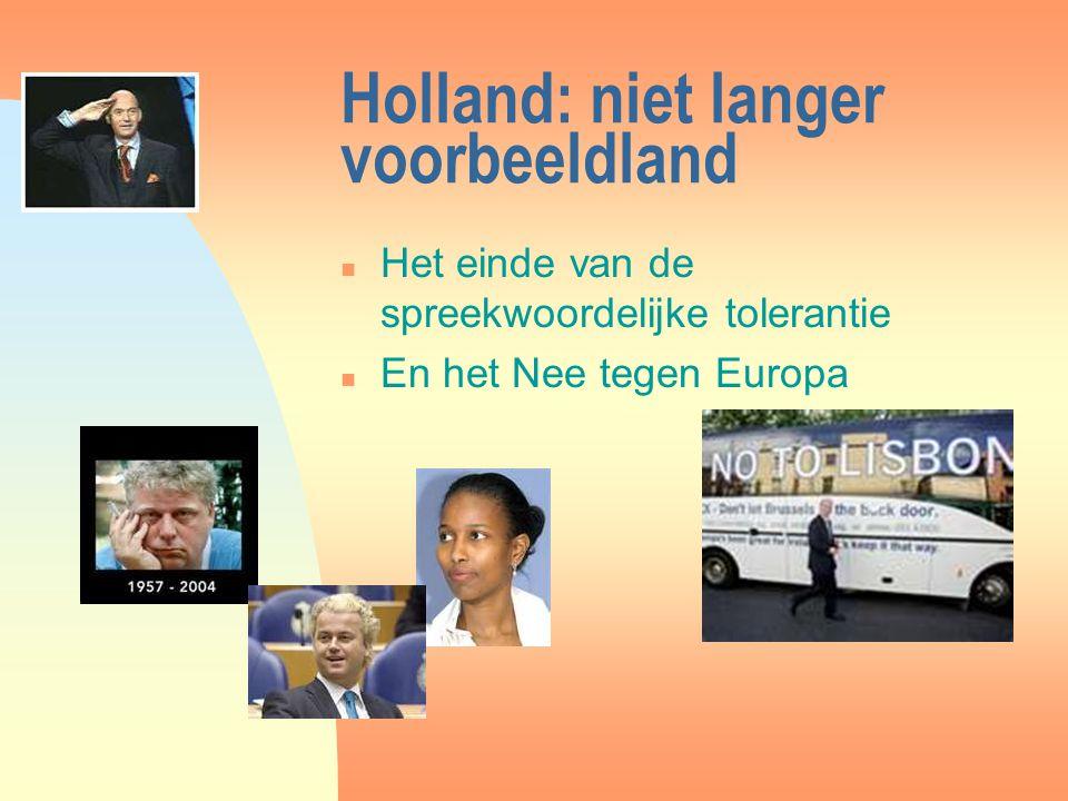 Holland: niet langer voorbeeldland n Het einde van de spreekwoordelijke tolerantie n En het Nee tegen Europa