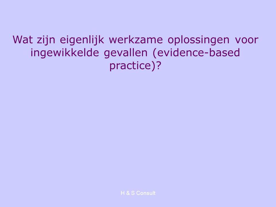 Wat zijn eigenlijk werkzame oplossingen voor ingewikkelde gevallen (evidence-based practice)