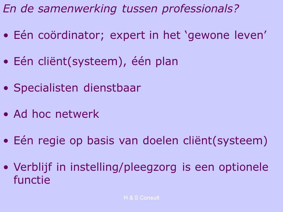 H & S Consult En de samenwerking tussen professionals.