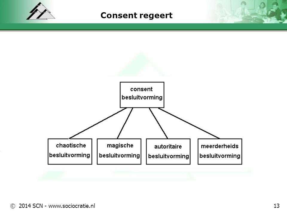 © 2014 SCN - www.sociocratie.nl 2 Kring Relatief autonome groep Gemeenschappelijk doel Leiden, uitvoeren en meten Beleid en uitvoering Integrale scholing 14