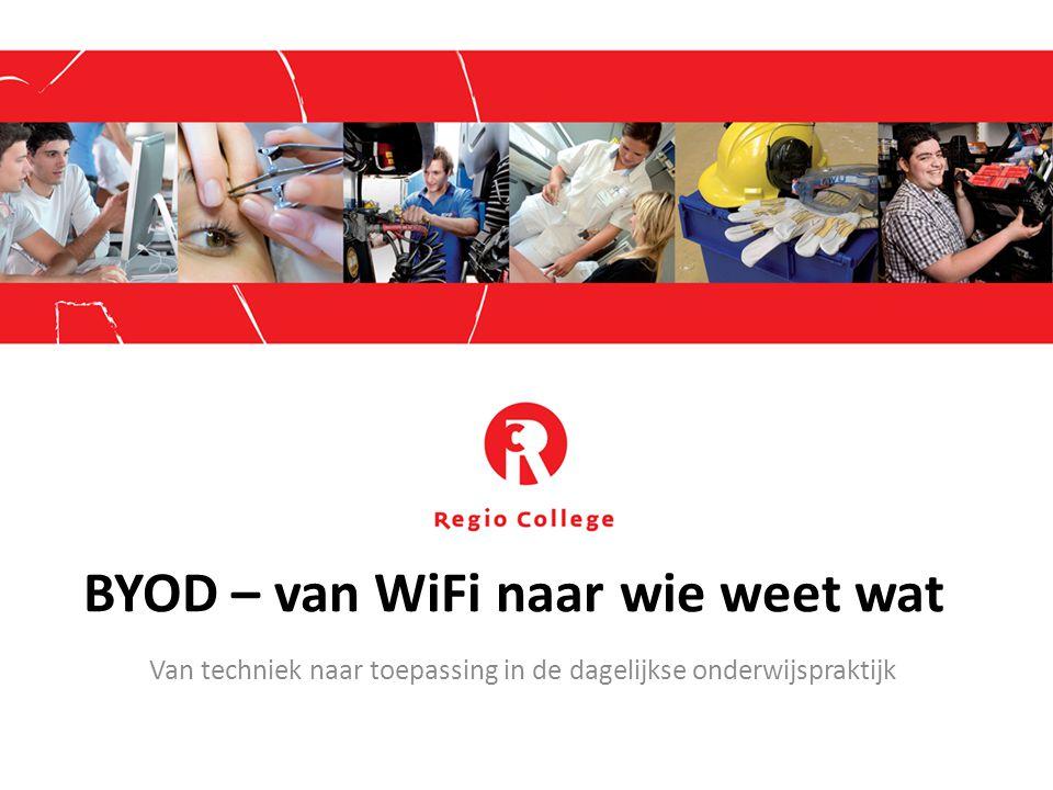 BYOD – van WiFi naar wie weet wat Van techniek naar toepassing in de dagelijkse onderwijspraktijk