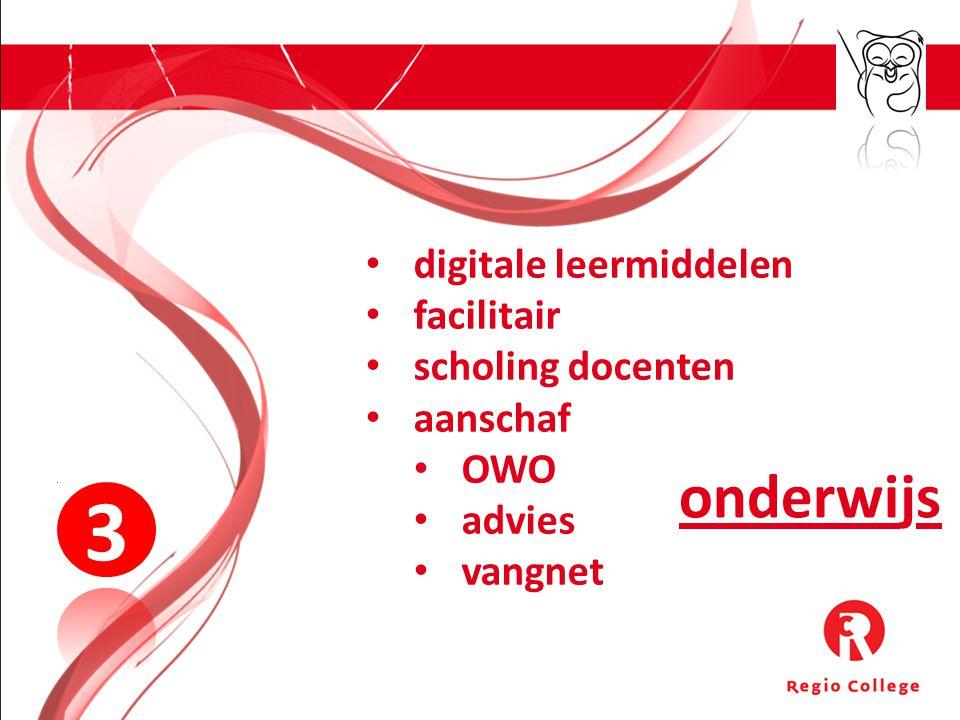 onderwijs 3 digitale leermiddelen facilitair scholing docenten aanschaf OWO advies vangnet