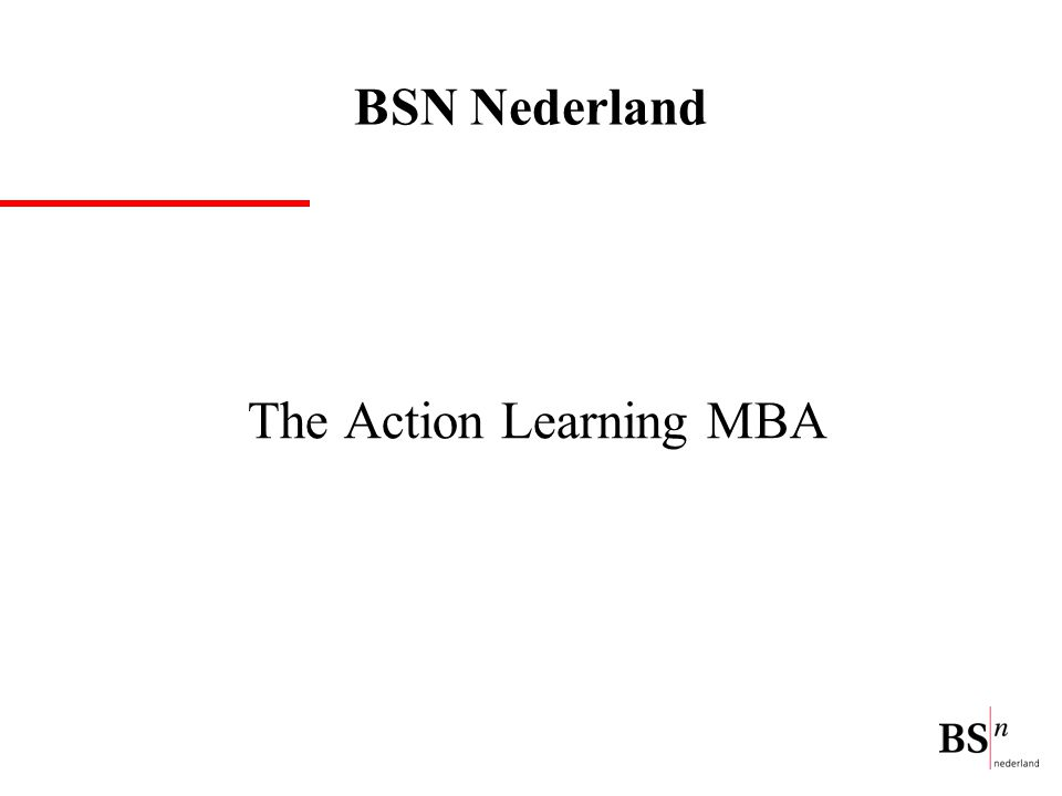 The Action Learning MBA BSN Nederland