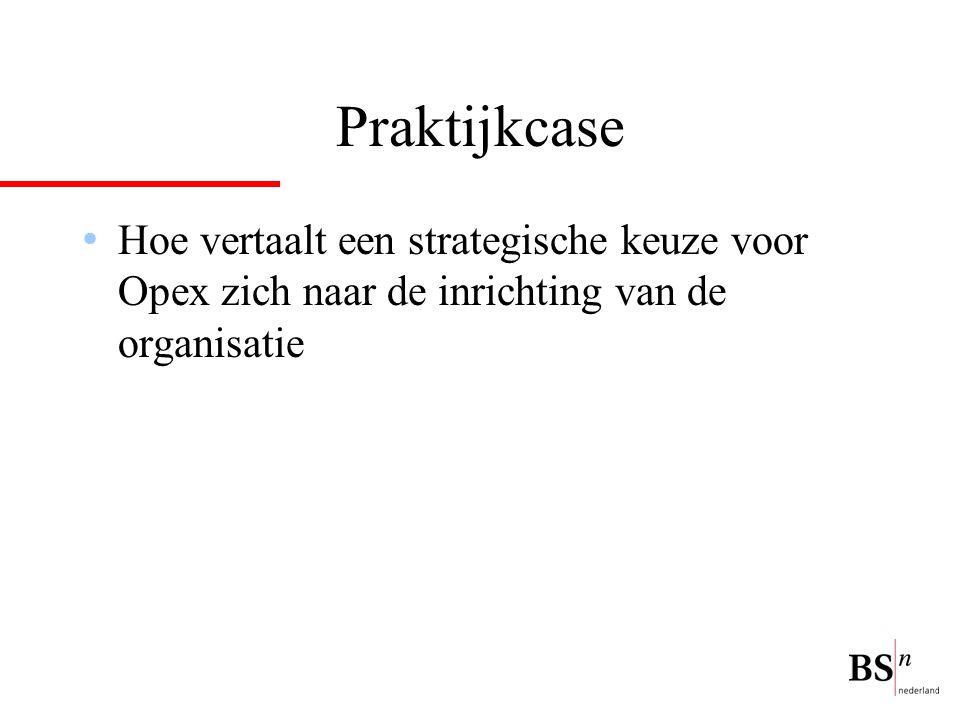 Praktijkcase Hoe vertaalt een strategische keuze voor Opex zich naar de inrichting van de organisatie