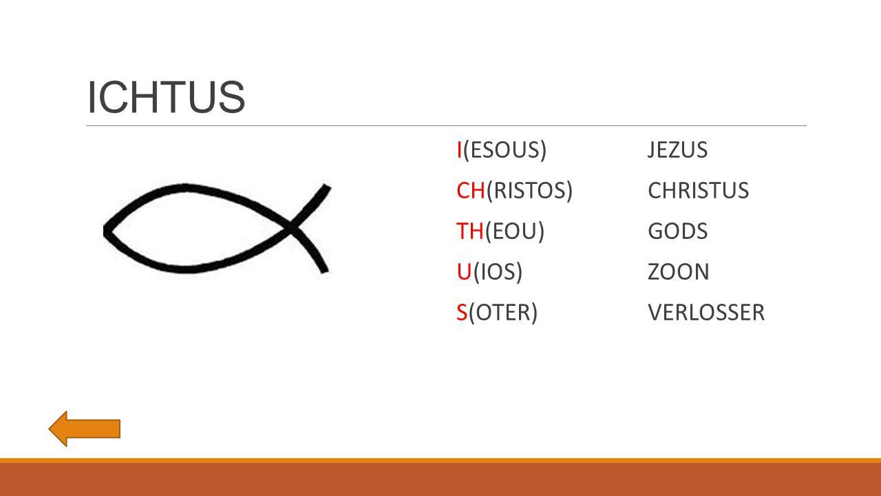 ICHTUS I(ESOUS)JEZUS CH(RISTOS)CHRISTUS TH(EOU)GODS U(IOS)ZOON S(OTER)VERLOSSER