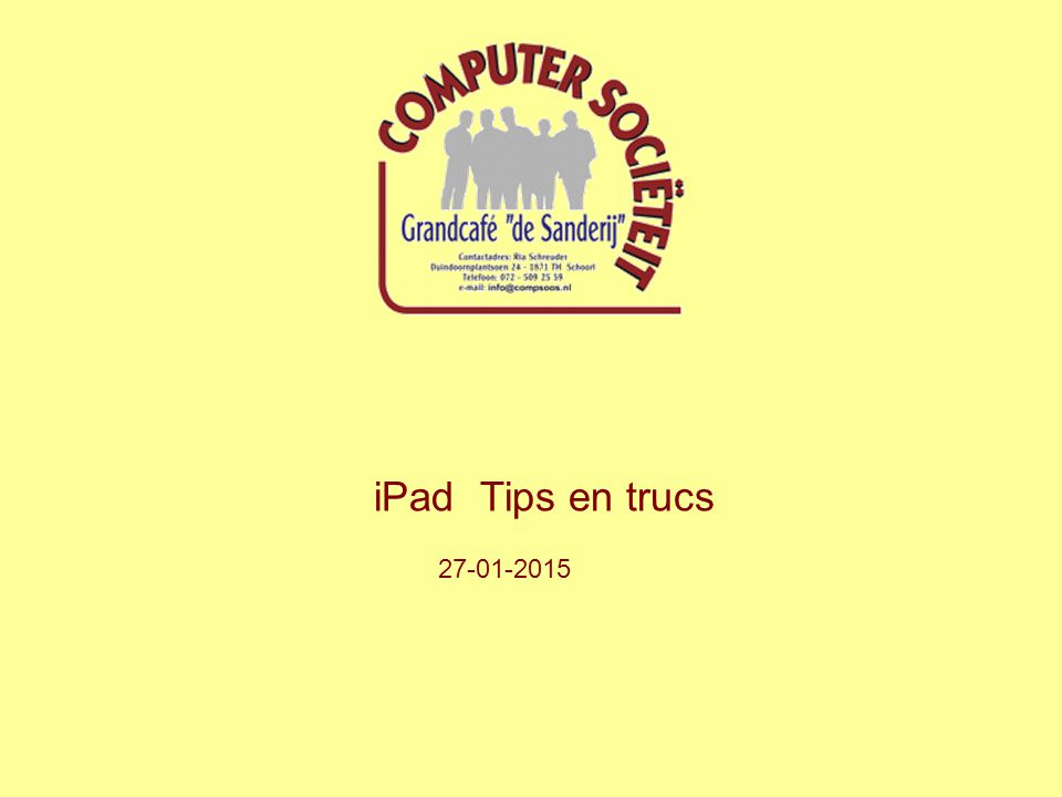 De iPad is een in 2010 geïntroduceerde tablet-pc van het Amerikaanse elektronicabedrijf Apple.