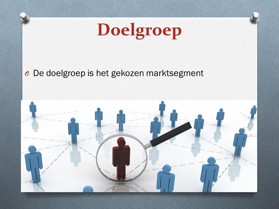 O De doelgroep is het gekozen marktsegment Doelgroep