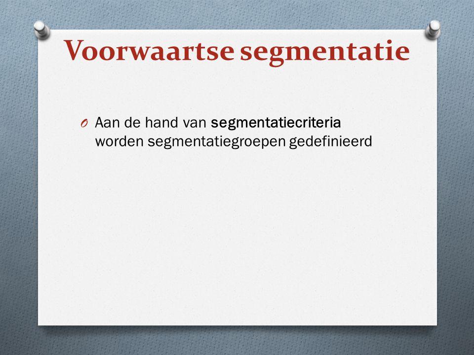 Marktsegmentatie, doelgroepkeuze, positionering 1.