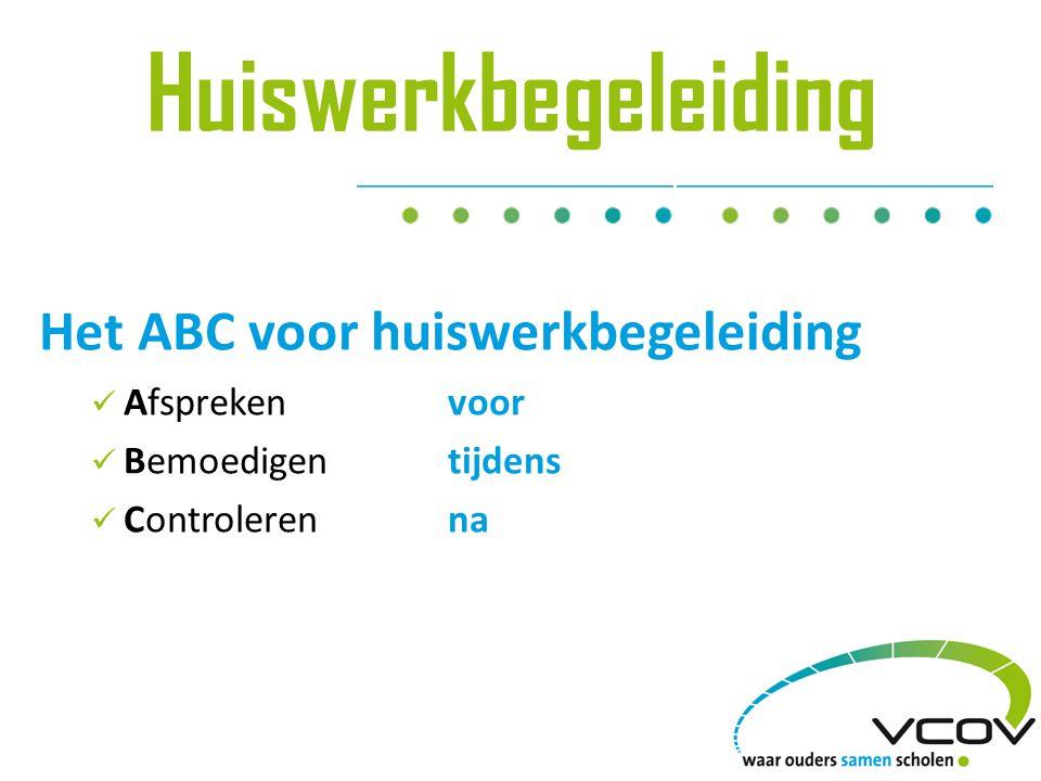 Huiswerkbegeleiding Het ABC voor huiswerkbegeleiding Afsprekenvoor Bemoedigentijdens Controlerenna