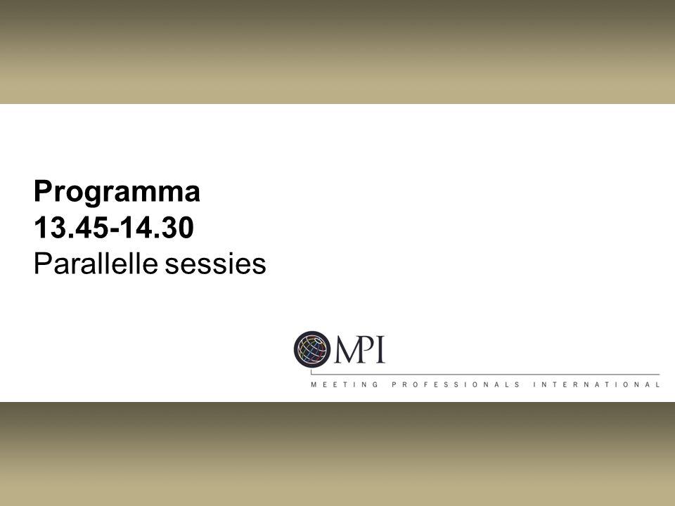 Programma 13.45-14.30 Parallelle sessies