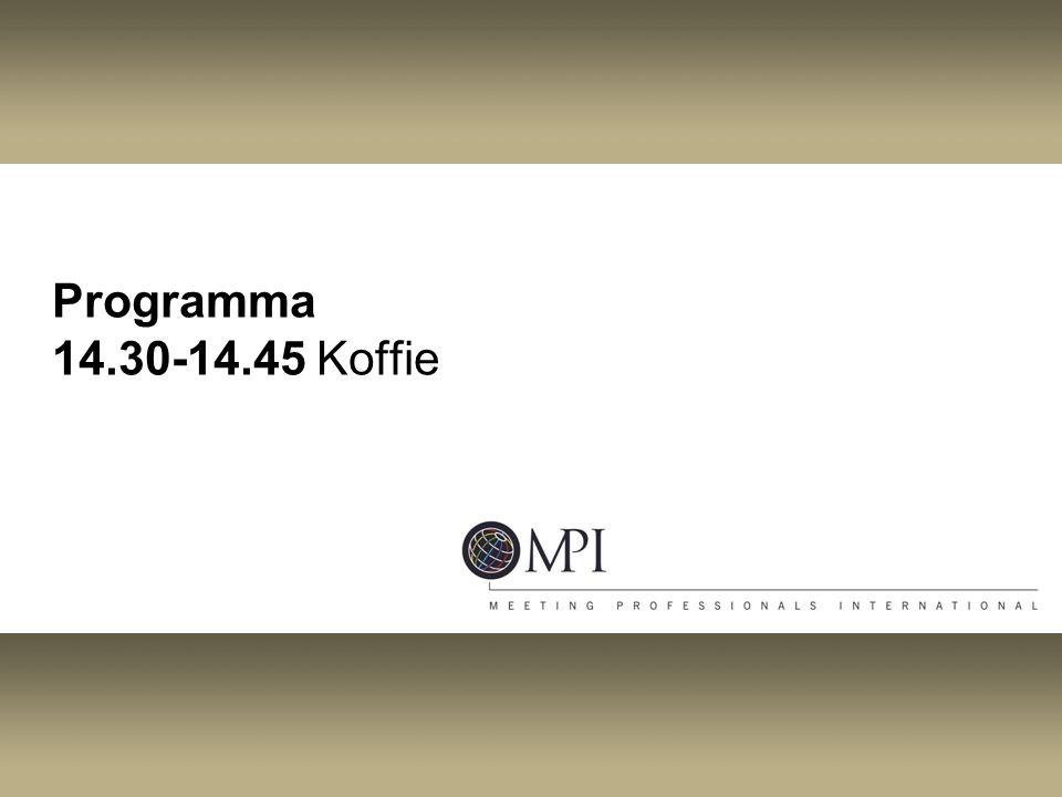 Programma 14.30-14.45 Koffie