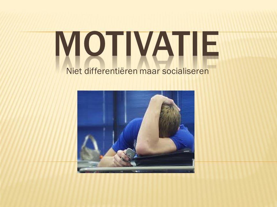 Niet differentiëren maar socialiseren