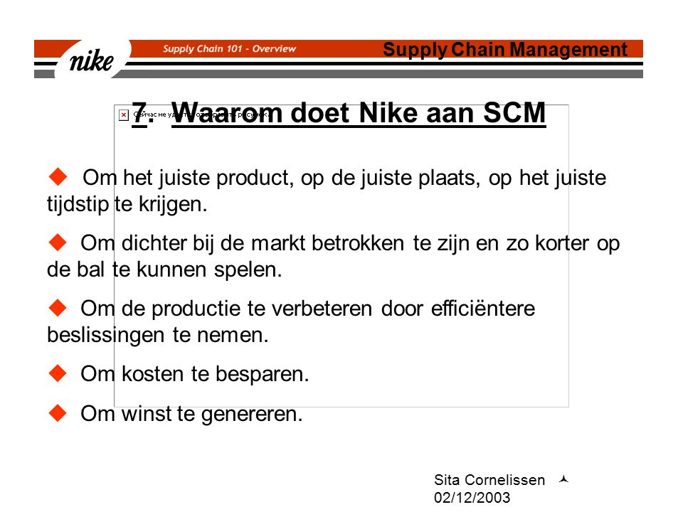 Sita Cornelissen 02/12/2003 7.