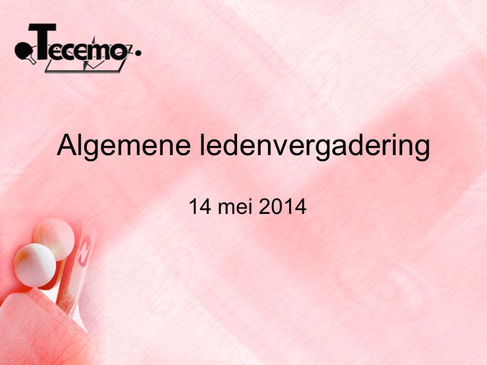 Algemene ledenvergadering 14 mei 2014