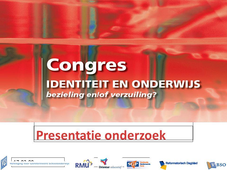 Klik om het opmaakprofiel van de modelondertitel te bewerken 17-03-09 Presentatie onderzoek