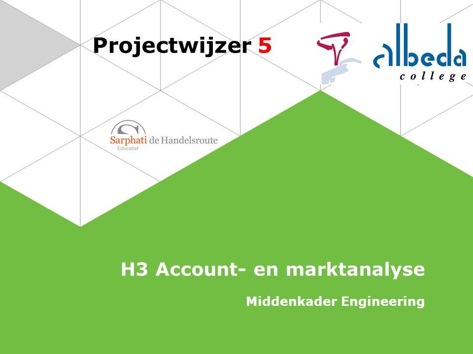 Projectwijzer 5 H3 Account- en marktanalyse Middenkader Engineering