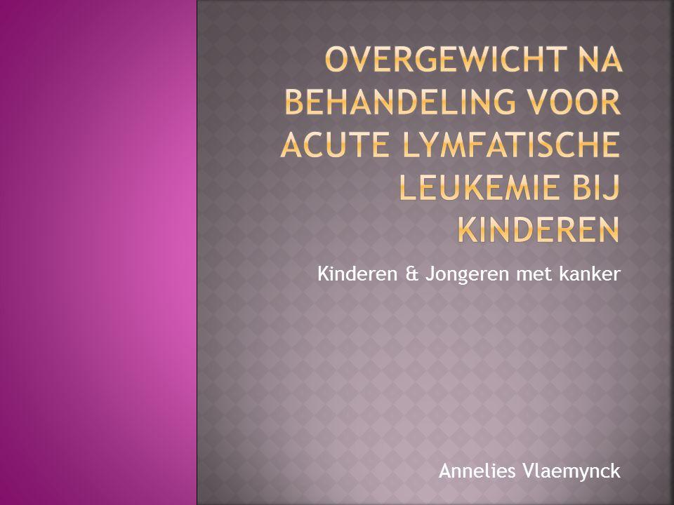 Kinderen & Jongeren met kanker Annelies Vlaemynck