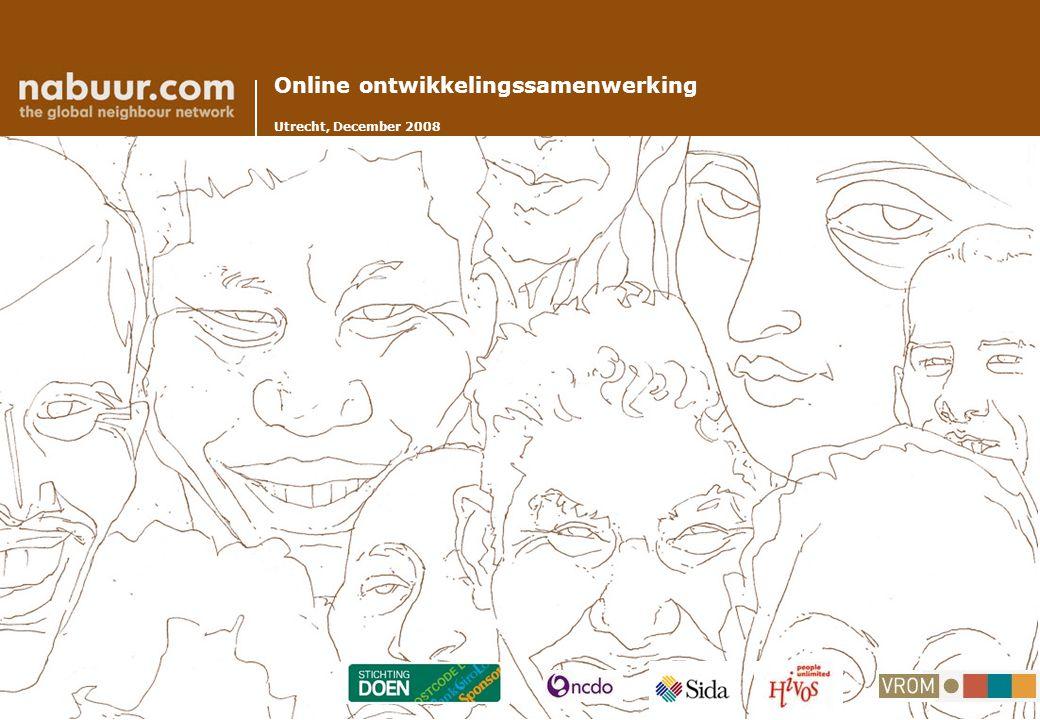 Online ontwikkelingssamenwerking Utrecht, December 2008