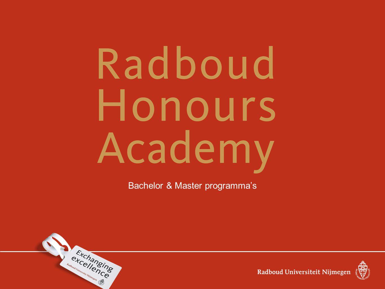 Bachelor & Master programma's