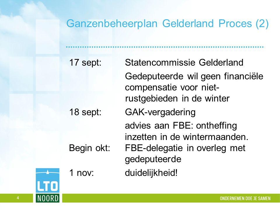 Ganzenbeheerplan Gelderland Proces (2) 17 sept:Statencommissie Gelderland Gedeputeerde wil geen financiële compensatie voor niet- rustgebieden in de w
