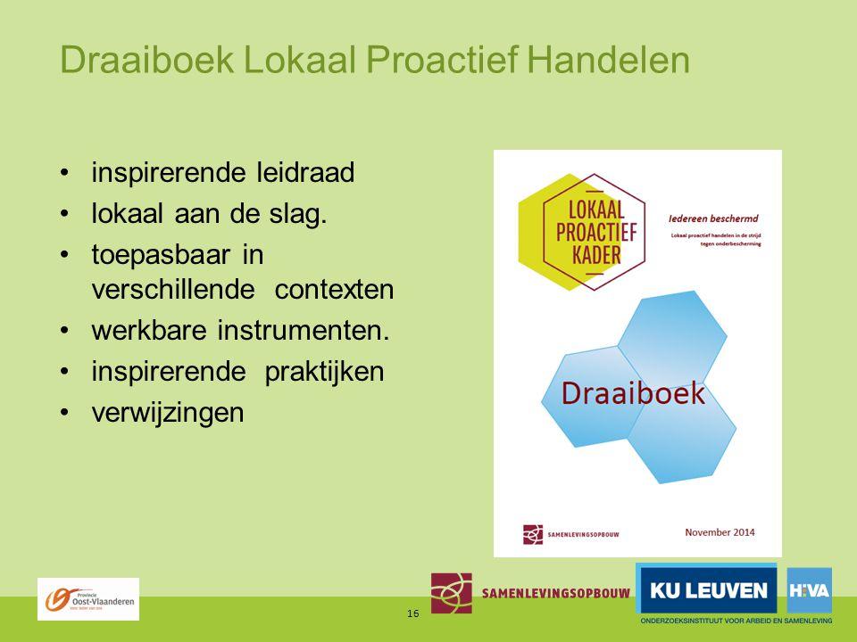 Draaiboek Lokaal Proactief Handelen inspirerende leidraad lokaal aan de slag.