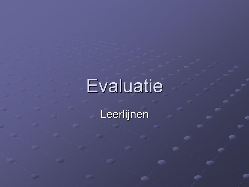 Evaluatie Leerlijnen