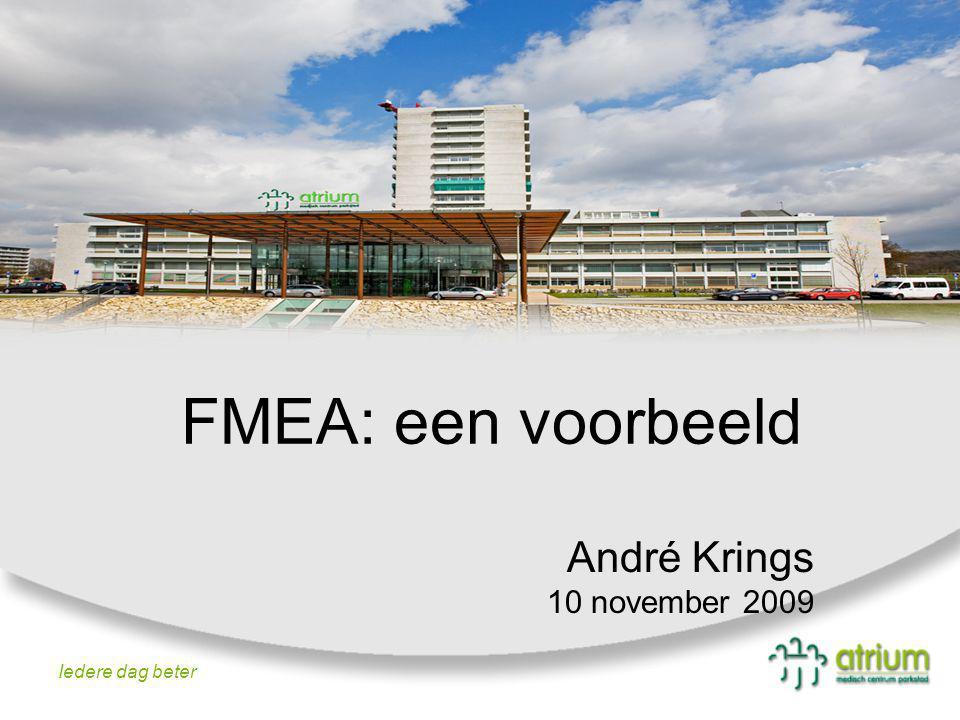 FMEA: een voorbeeld André Krings 10 november 2009 Iedere dag beter